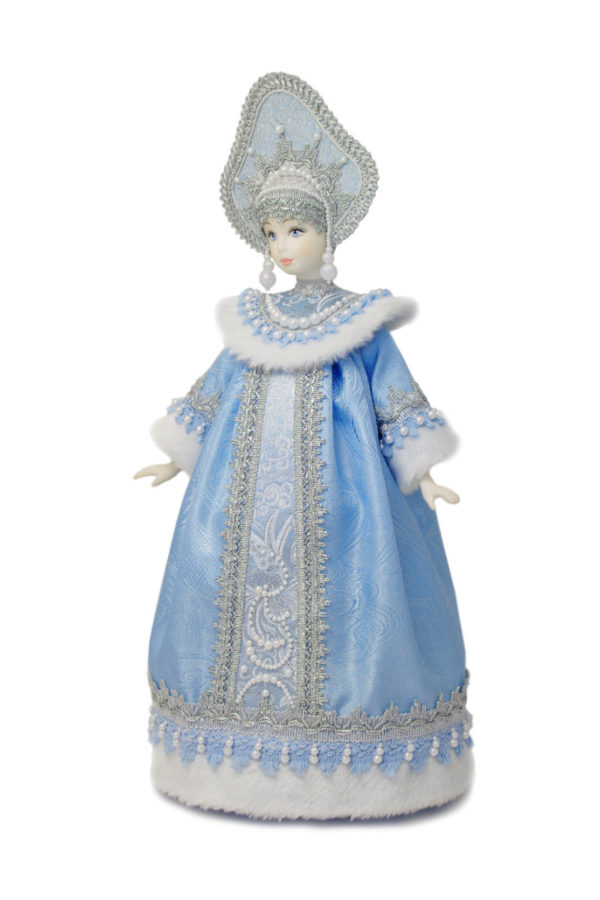 кукла снегурочка интерьерная фарфоровая голова