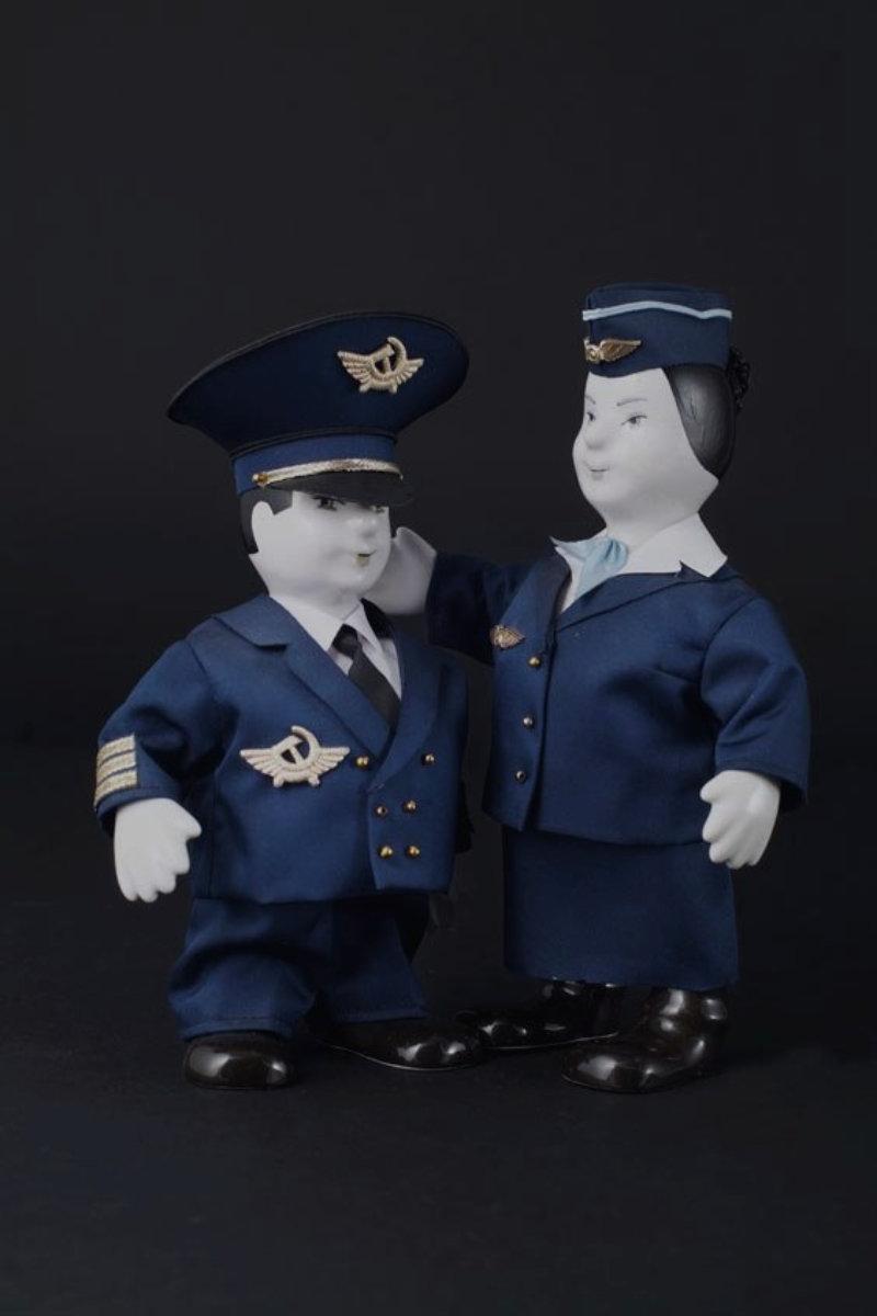 кукла летчик стюардесса подарок