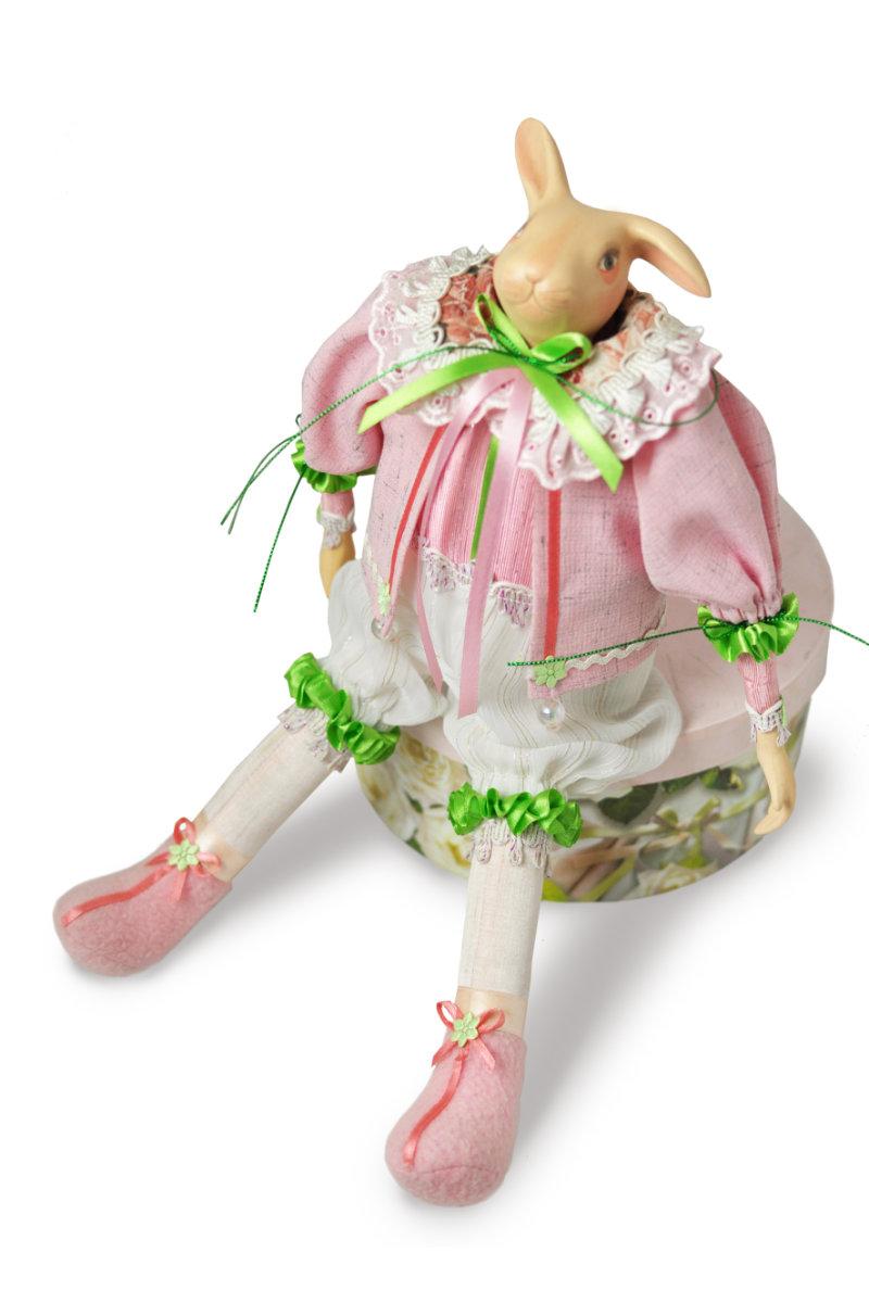 фарфоровая кукла заяц пасхальный кролик