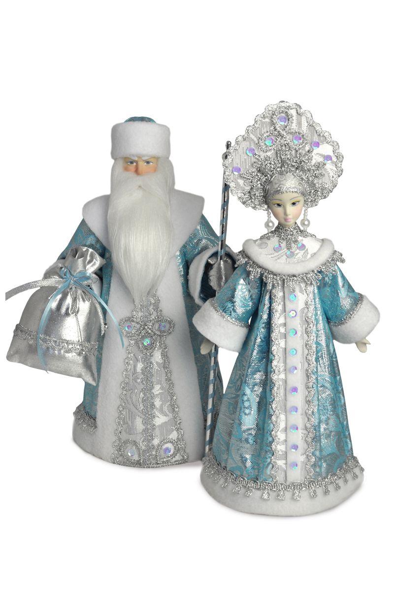 куклы дед мороз и снегурочка интерьерные