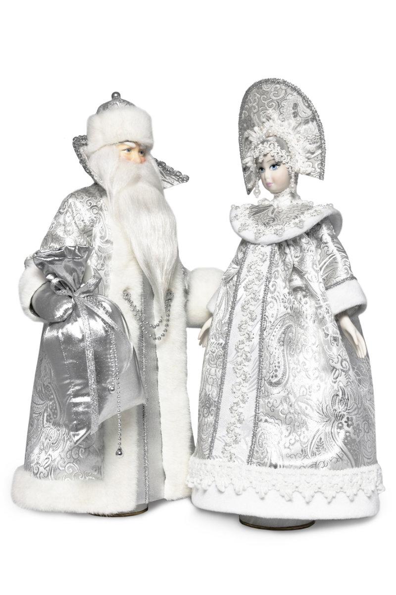кукла дед мороз и снегурочка интерьерный