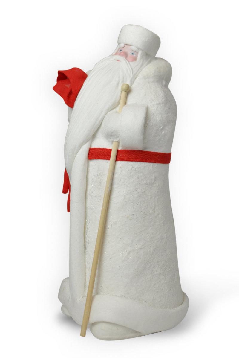 кукла дед мороз из ваты ретро интерьерный
