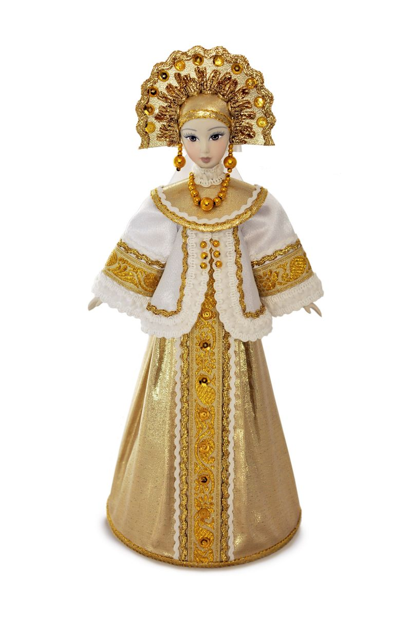 русская народная кукла в национальном костюме с кокошником