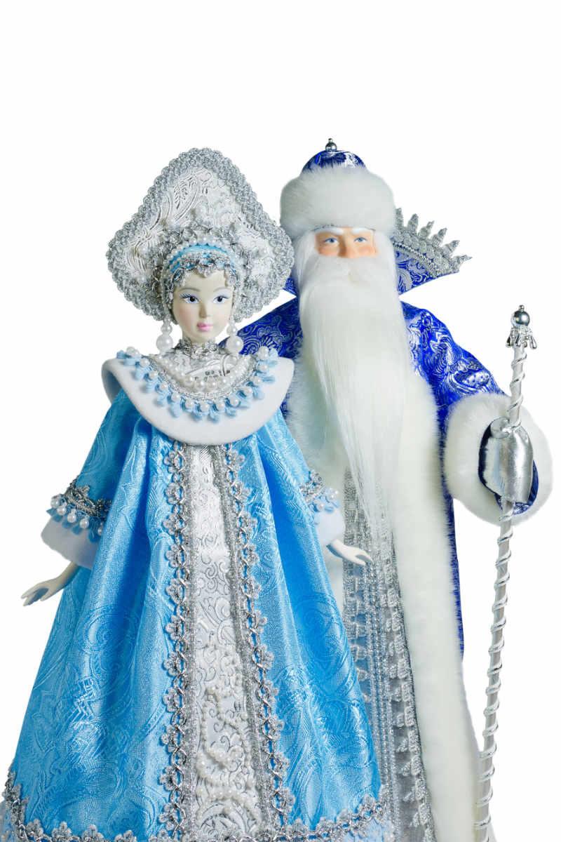 кукла дед мороз и снегурочка интерьерная фарфоровая голова