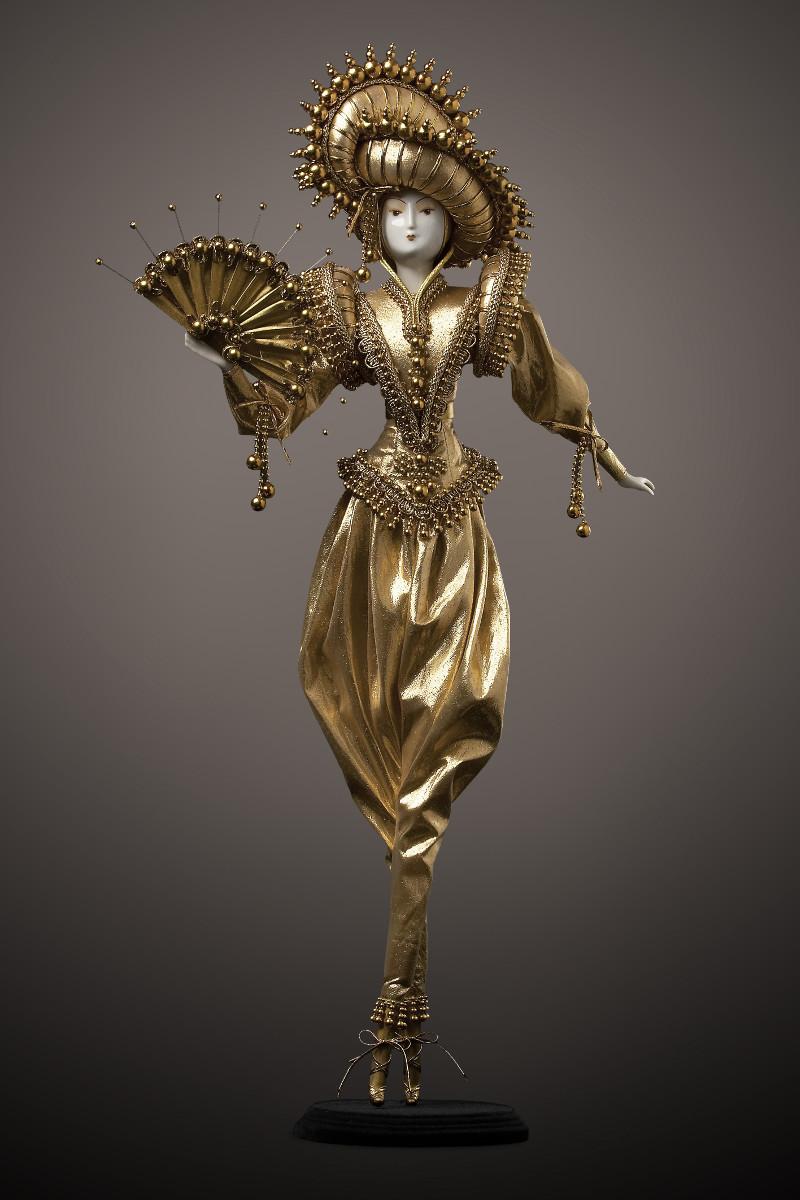 фарфоровые куклы интерьерные золотой принц принцесса коллекционные