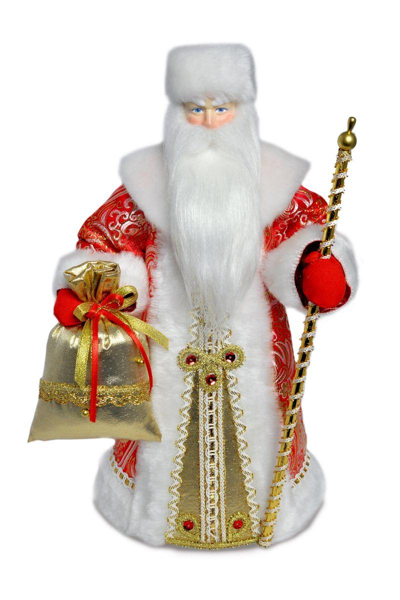 кукла дед мороз в красном интерьерный