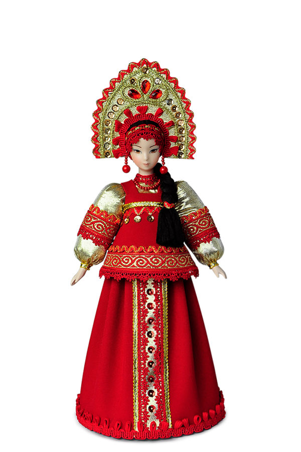 Русские куклы в национальных костюмах кукла в кокошнике