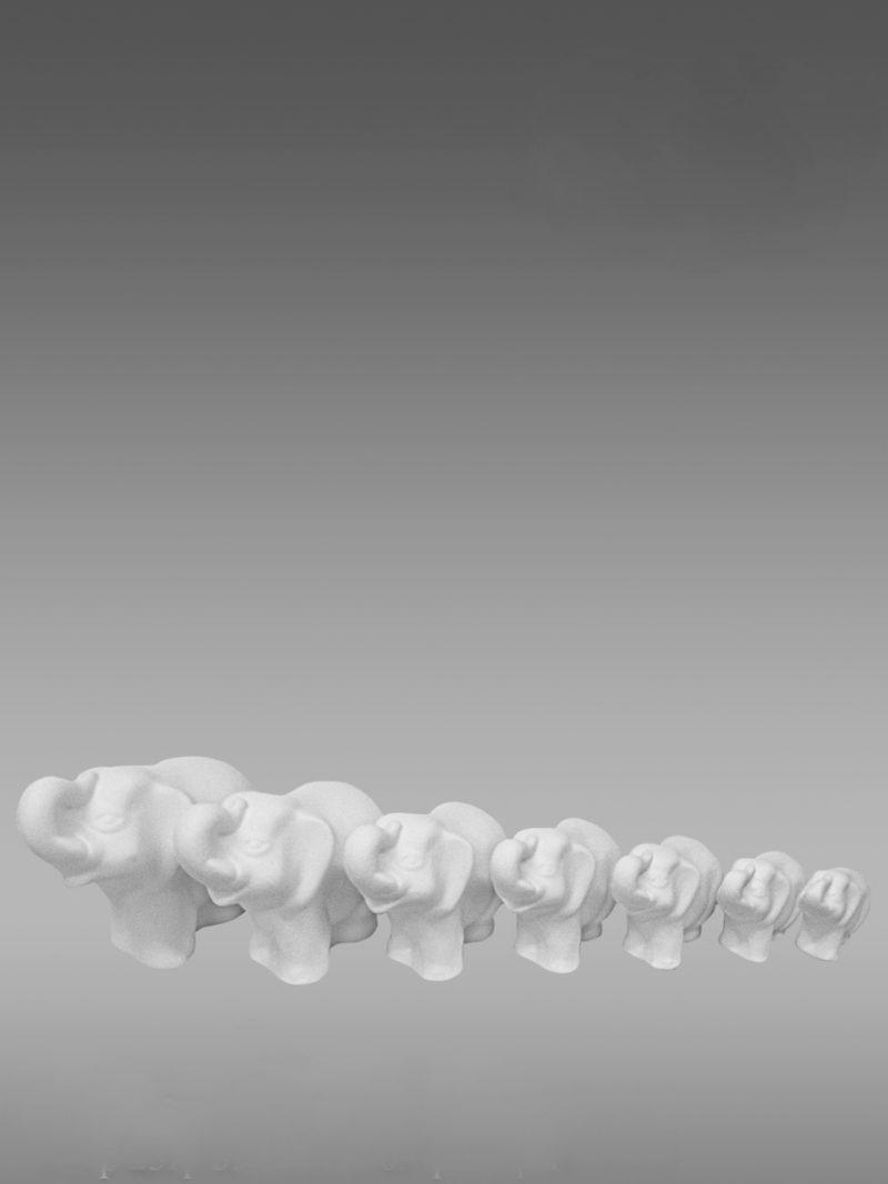 фарфоровые фигурки животных слоники неделька