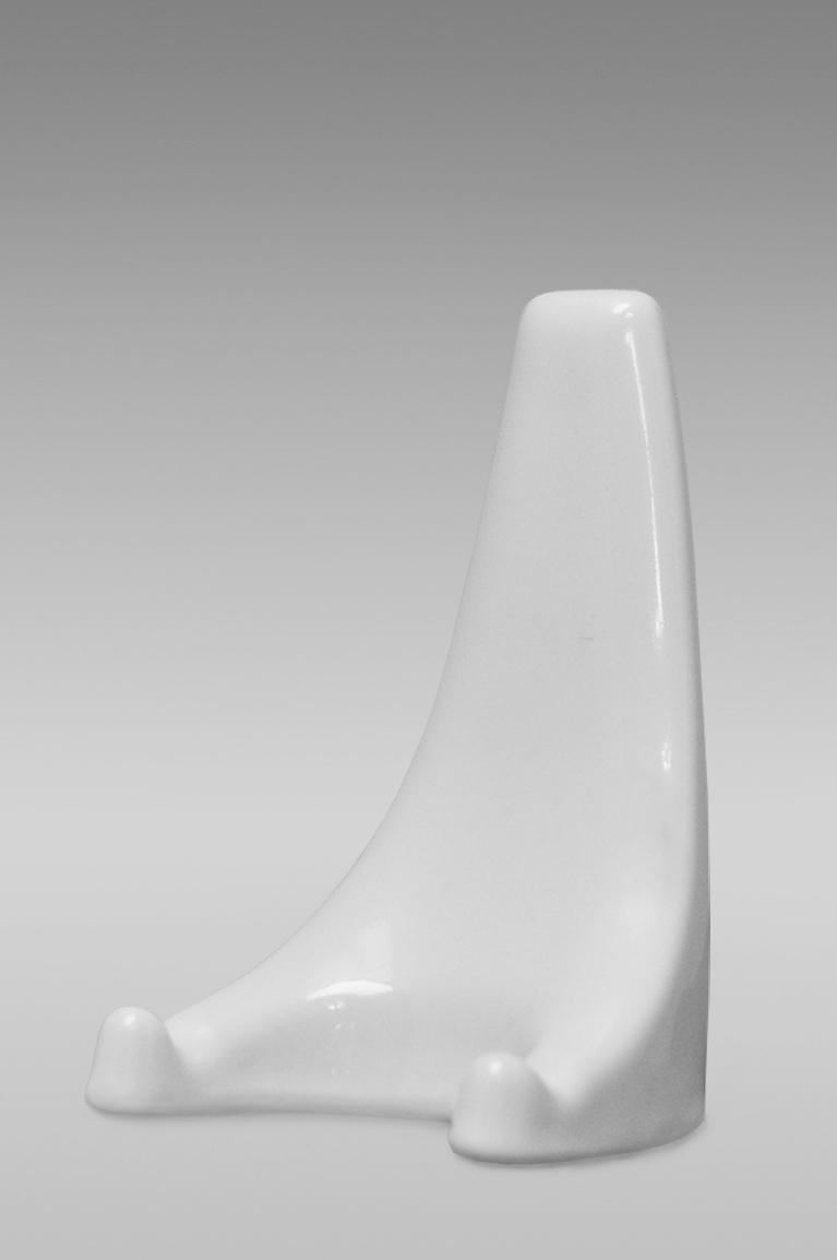 держатель для тарелок фарфоровый белый