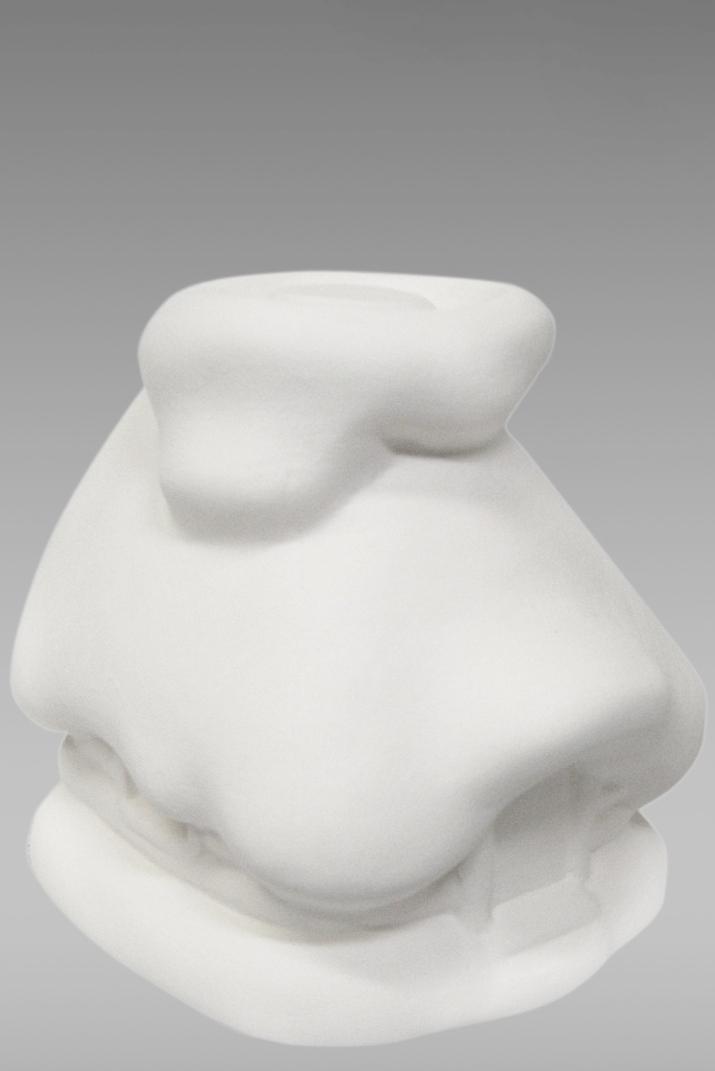 подсвечник домик фарфоровый белый