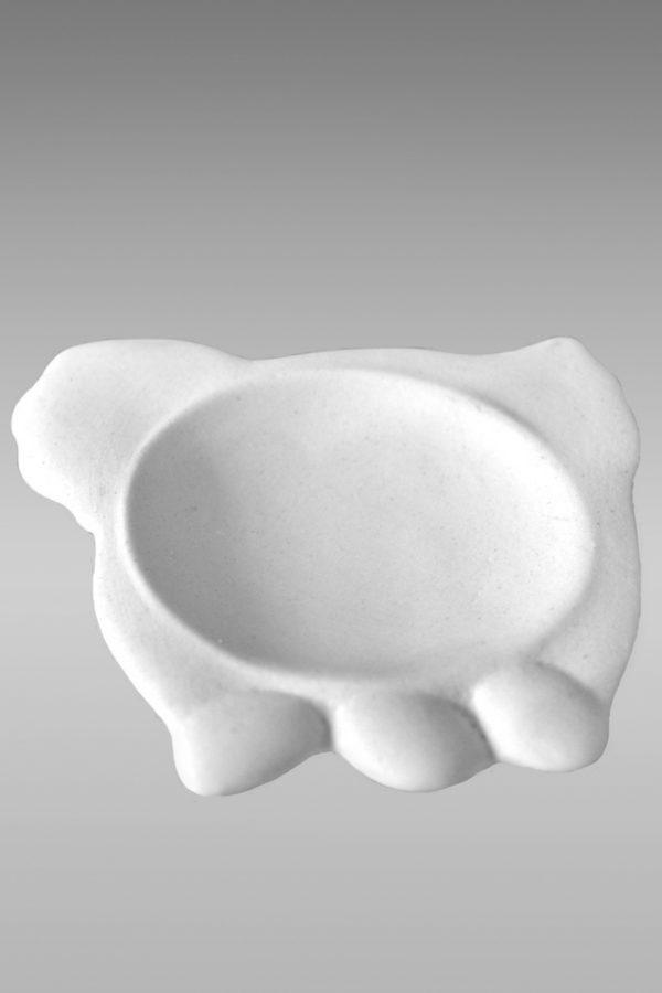 подставка фарфоровая белая