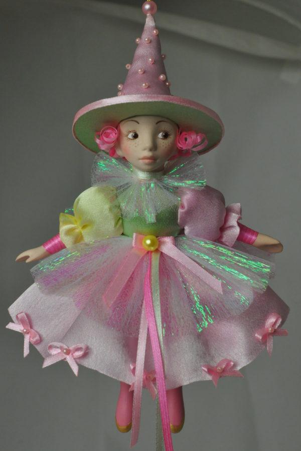 Фарфоровая кукла арлекин коломбина купить