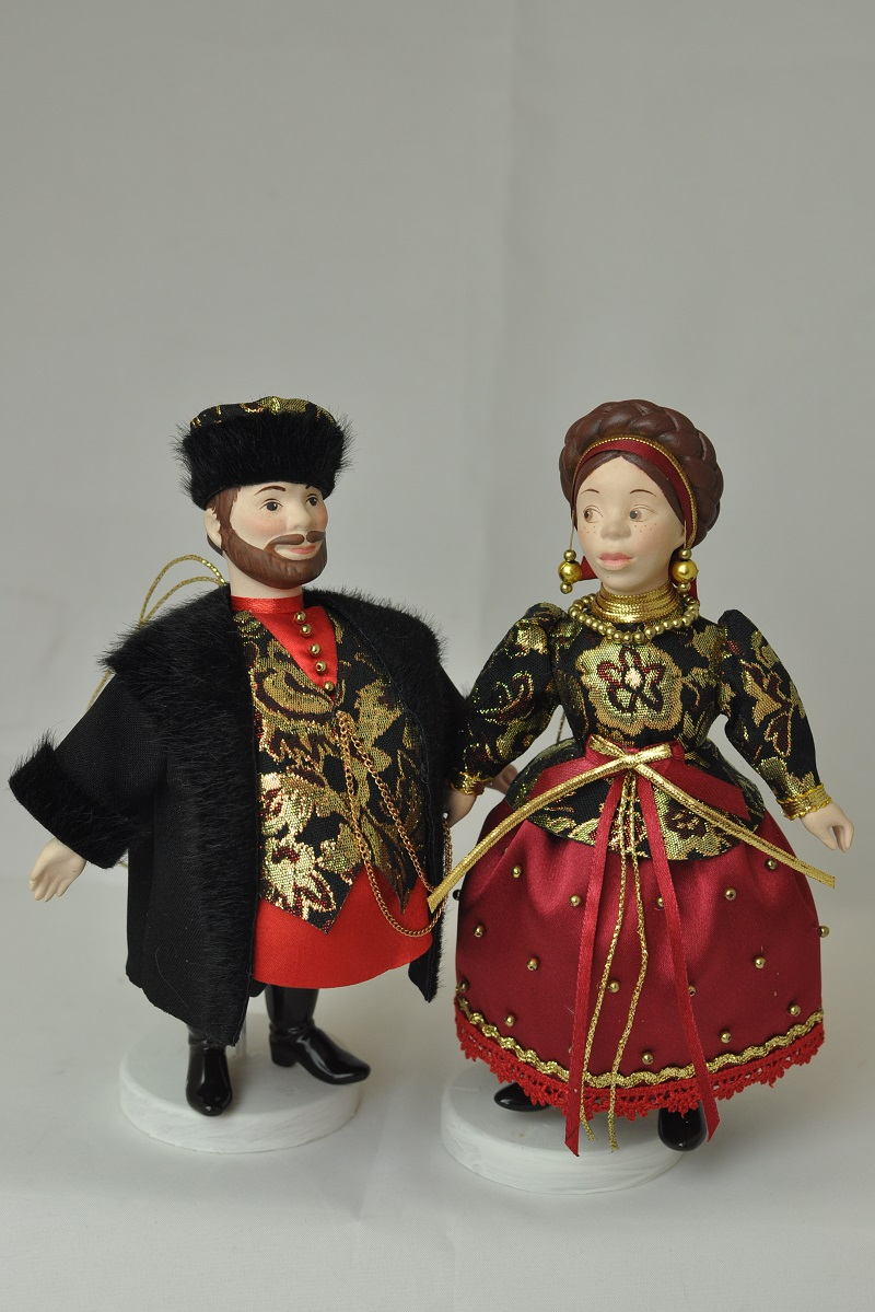 Русские народные куклы в народных костюмах