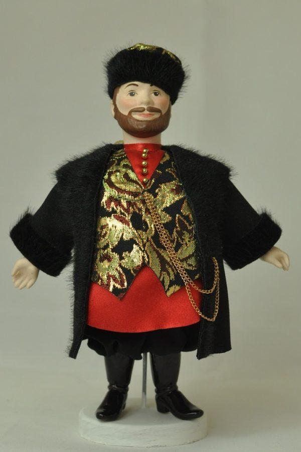 Русская народная кукла в народных костюмах кукла-купец