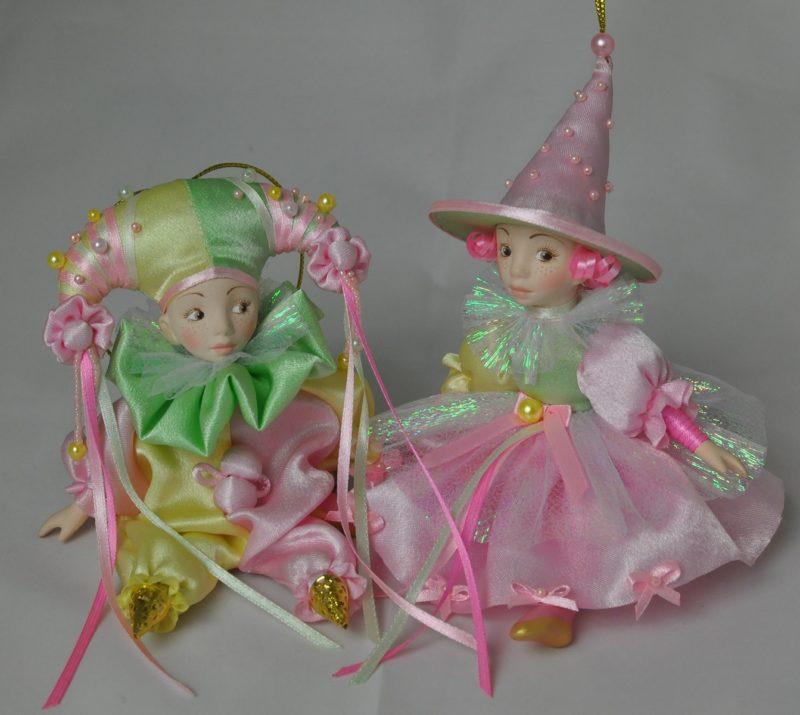 Интерьерная кукла арлекин фея купить