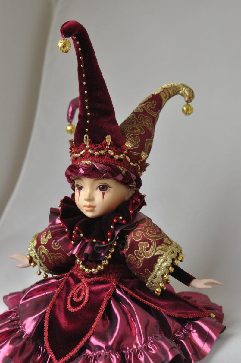 Коллекционная кукла арлекин купить