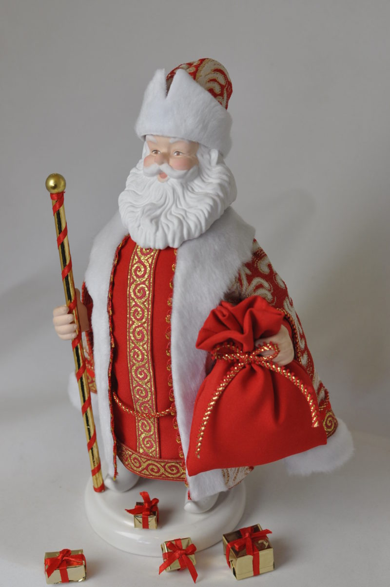 Кукла дед мороз фарфоровая купить