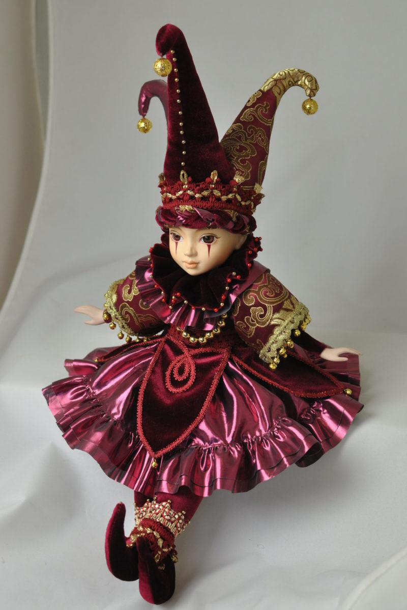 Интерьерная кукла арлекин купить