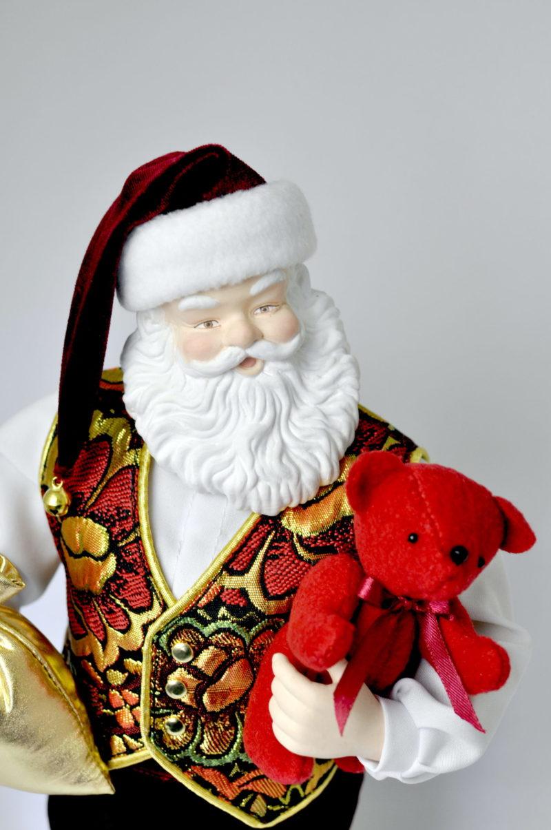 Санта Клаус кукла дед мороз интерьерный