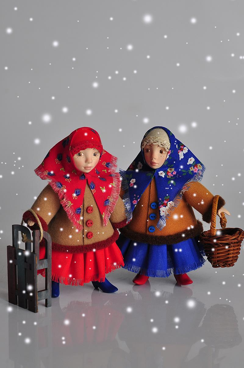 Интерьерные куклы Дуняша и Анфиса