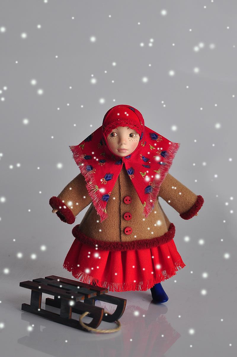 Интерьерная кукла Дуняша