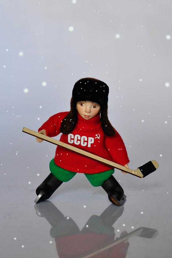 Кукла Васька хоккеист