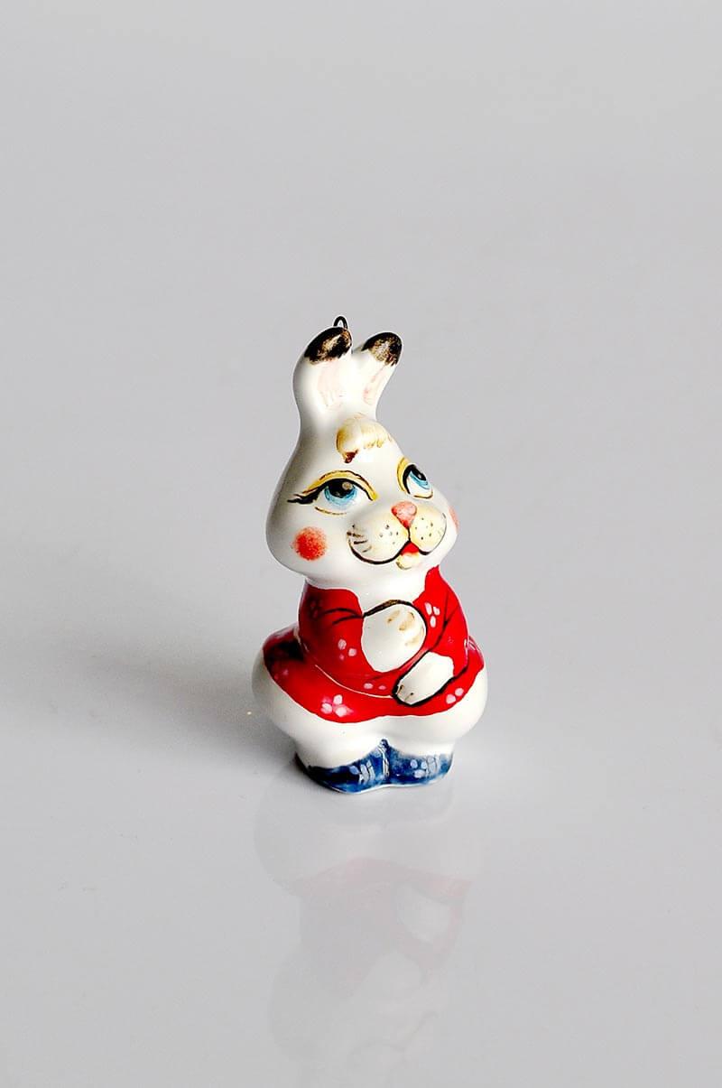 Игрушка на елку заяц